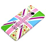deinPhone Keep Calm And Carry On - Carcasa para HTC One M7, multicolor