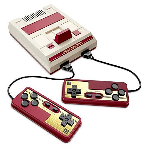 QCHEA Mini TV Game Console Console FC NES Palm Version Game Console Console Incorporado 1000 Juegos clásicos, con Interfaz USB y indicador de energía