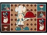 Asturdintex Comercial 55360 - Alfombra multiu 50x80 cocina chef dintex mascasa 55360