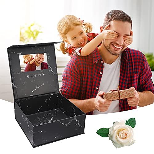 TTLIFE Vedio Geschenkbox 7-Zoll-LCD-Bildschirm Geschenkbox mit Video- und Fotobotschaft für Hochzeit Verlobung Geburtstag Jubiläen
