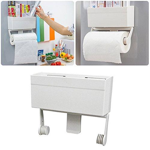 Estante Almacenamiento Especias Para Refrigerador, Especiero Magnético Montado En La Pared, Baño Cocina Refrigerador Multiusos Soporte Lateral Con Estante Extraíble Para Toallas De Papel