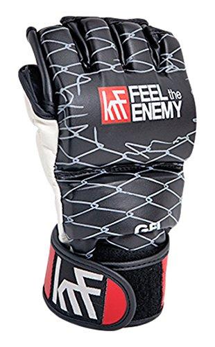KRF Feel The Enemy Gel Padding 7oz Box-Handschuhe, Unisex Erwachsene L Schwarz