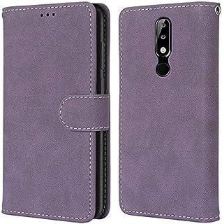 For Nokia X5,5,1 Plus Case, Matte Finish Premium PU Leather Wallet Case, Book Style Folio Flip Case Smartphone Case Cover ...