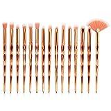 15 Piezas Principiante Artista De Maquillaje Belleza Herramienta Pincel De Maquillaje Profesional Con Cepillo De Sombra De Ojos Cepillo De Cejas Labios,4