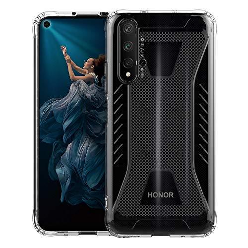Huawei Nova 5T / Honor 20 Hülle Case, Schutzhülle Transparente Dünn Weich Silikon Cover Bumper Stoßfest Handyhülle Fall für Huawei Nova 5T/ Honor 20 (Transparent)