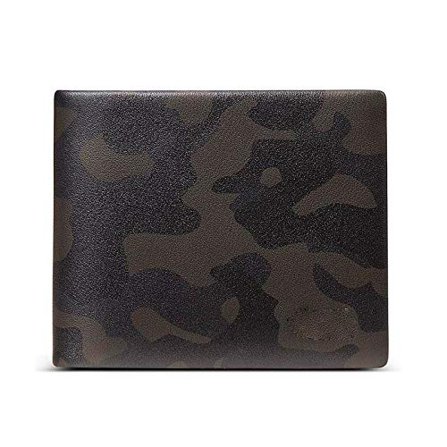Men's Wallet 2019 New Genuine Leather Fashion Personality Short Youth Soft Leather Horizontal Wallet Man, Camouflage