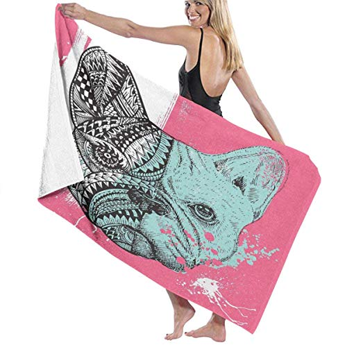 Toalla Shower Towels Beach Towels Bulldog Francés Split Toalla De Baño 80X130CM