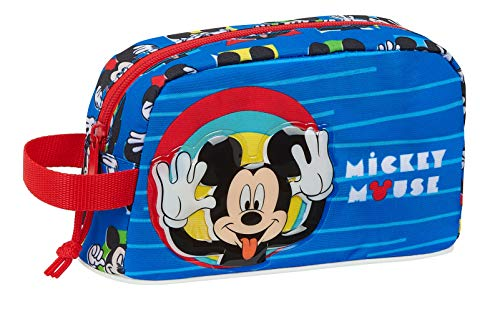 Safta Porta Desayunos Termo Térmica de Mickey Mouse Me Time, 215x65x120mm, azul rojo, m (M859)