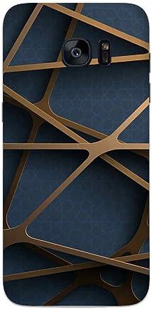 MADANYU Random Geometry Abstract Pattern Designer Printed Hard Back Shell Case for Samsung S7 Edge