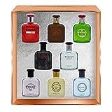 WHISKY Collection de Parfum • Coffret 8 Miniatures • Eau de Toilette • Parfums Homme • Pour lui • Cologne • EVAFLORPARIS