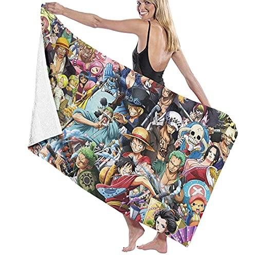 EA-SDN Toalla de playa de One Piece grande para niños, impresión 3D, Anime, toalla XXL de microfibra, para playa, piscina y gimnasio (una pieza de 1,150 x 200 cm)