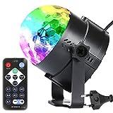 Luz led giratoria, EUGO Mini bola mágica lámpara etapa Disco Club DJ luz activado por voz Crystal KTV Bar colorida