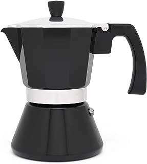 Leopold Cafetera Espresso 6 tazas Tivoli-Negro (Induccion)