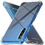 Ferilinso Hülle für Sony Xperia L4 Hülle, [Version mit Vier Ecken verstärken] [Kamerapflegeschutz] Stoßfeste, weiche TPU-Silikonhülle aus Gummi für Sony Xperia L4 Hülle (Transparent)