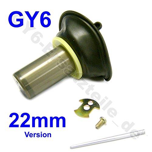 VERGASER MEMBRANE 22mm SET mit VERGASER NADEL für 125-150cc 4-Takt CHINA ROLLER GY6 z.B.für BAOTIAN BENERO BENZHOU YIYING ZNEN REX MOTINO HYOSUNG KYMCO CHINA ROLLER GY6