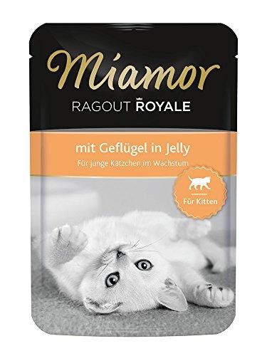 Miamor Katzenfutter Ragout Royal für Kitten mit Geflügel 100 g, 22er Pack (22 x 100 g)