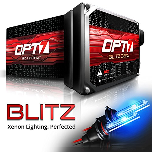 OPT7 Blitz 35w H3 HID Kit - 3.5X Brighter - 4X Longer Life - All Bulb Colors and Sizes - 2 Yr Warranty [10000K Deep Blue Xenon Light]