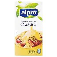 バニラ大豆カスタード525グラムAlpro (x 4) - Alpro Vanilla Soya Custard 525g (Pack of 4) [並行輸入品]