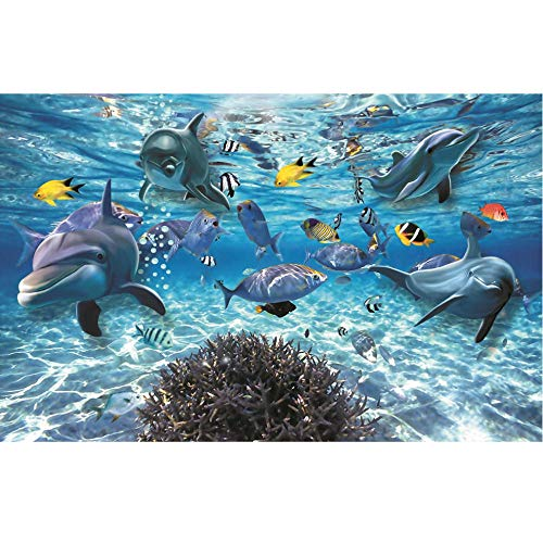 Fotomurales Murales De Papel Tapiz De Pared Bajo El Agua Sear Dophins Autoadhesivo De Pared Póster Papel De Pared Decoración Del Hogar Dormitorio No Tejido En Casa