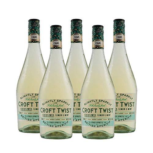 Vino Fino Croft Twist de 75 cl - D.O. Jerez - Bodegas Gonzalez Byass (Pack de 5 botellas)