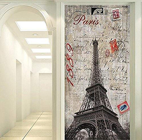 Papel pintado 3D personalizado de FSKJBZ Estilo europeo nostálgico Francia Torre de París para la sala de estar Dormitorio TV Fondo de pantalla @ 250cmx175cm