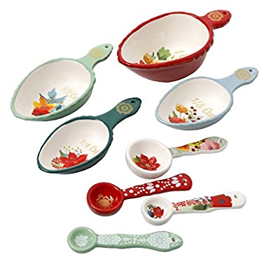 The Pioneer Woman Measuring Cups Spoons WInter Bouquet 8 Piece Set