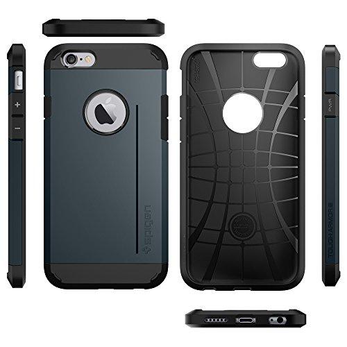 『【Spigen】 iPhone6 ケース, [ 米軍MIL規格取得 衝撃 吸収 パターン 加工 ] タフ・アーマー アイフォン 6 用 耐衝撃 カバー』の4枚目の画像