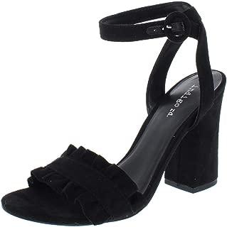 Womens Sandie Faux Suede Block Heel Dress Sandals