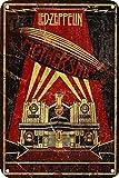 Hunnry Led-Zeppelin Póster De Pared Metal Vintage Placa Cartel Decorativas Estaño Signo Vendimia Plaque por Bar Café Hogar Restaurante Dormitorio