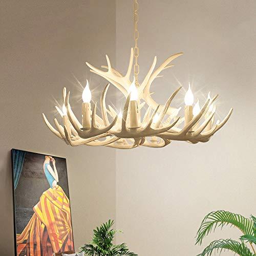 Industrielle Windlicht Deckenleuchte Restaurant/Bar/Restaurant/Dekorative Lichter for 10-20 Quadratmeter Kreative Retro Geweih Kronleuchter Hängende Beleuchtung (Edition : B)