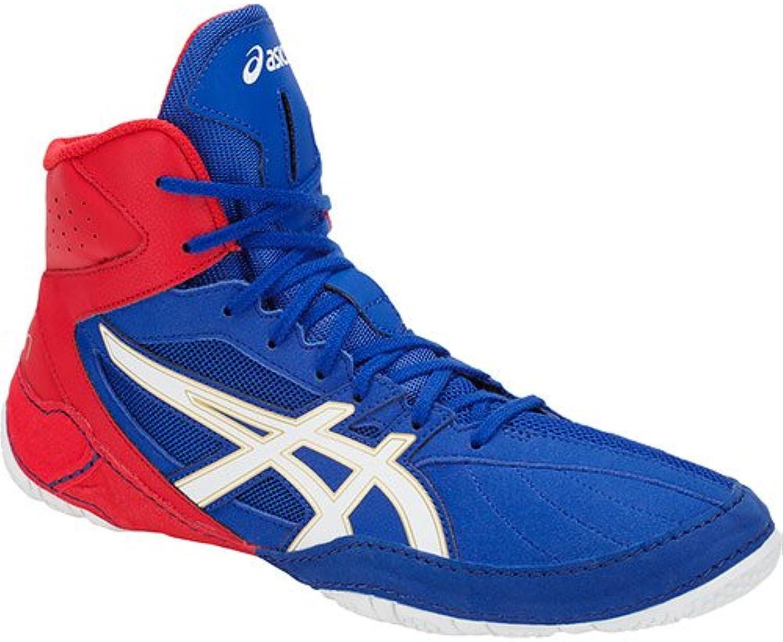 ASICS Cael V8.0 Wrestling shoes Boxing Boots Ringerschuhe bluee Red shoes da Lotta
