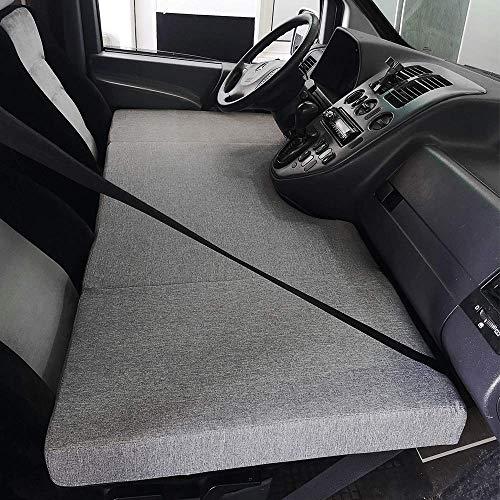 KFoam.es Colchón Plegable Cama Delantera Camper para Mercedes Vito W638 Color Gris (1996–2003)