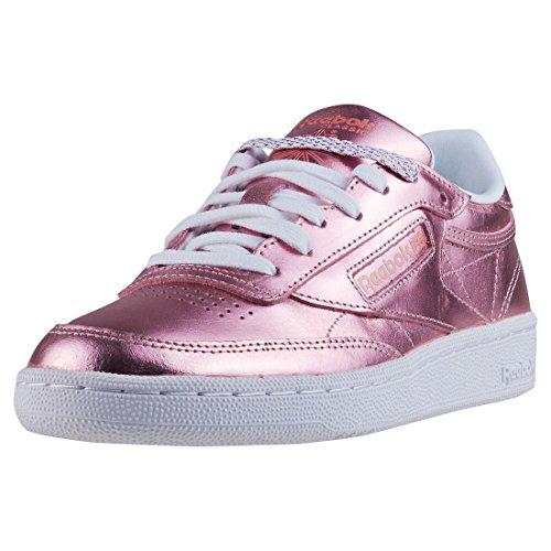 Reebok Damen Club C 85 S Shine Tennisschuhe, Pink (Copper/White 000), 37.5 EU