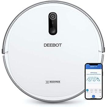 Ecovacs Deebot 710 - Robot Aspirador, mapeo cámara, App, Wifi, reporte por voz, actualización automática, 3 modos de limpieza, 2 niveles succión, suelos duros, detecta obstáculos, desniveles, blanco: Amazon.es: Hogar