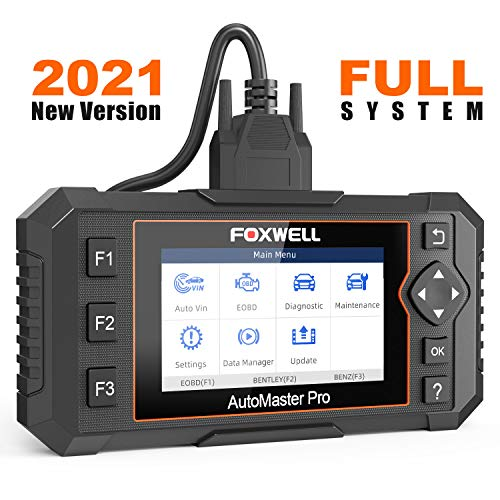 FOXWELL NT624 Elite OBD2 Scanner All Systems Car Diagnostic Tool for All Cars with Oil Light Reset and EPB Reset Service Check Engine Code Reader for ABS SRS Transmission EPS HVAC