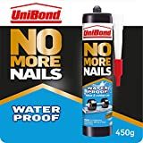 UniBond No More Nails Waterproof, Heavy-Duty Mounting Adhesive, Strong Glue for Mirrors, Wood