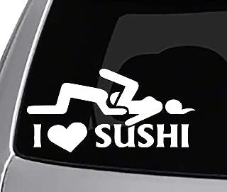 Seek Racing I Love Sushi Decal CAR Truck Window Bumper Sticker Funny Joke JDM Illest