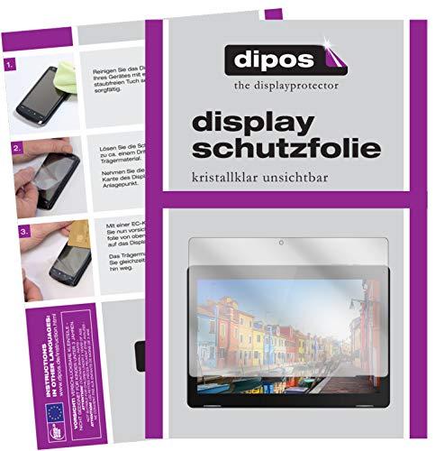dipos I 2X Schutzfolie klar kompatibel mit TrekStor Surftab B10 Folie Displayschutzfolie
