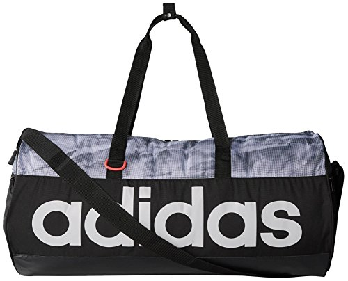 adidas Sporttasche Linear Performance Teambag Graphic Medium, schwarz, 59 x 29 x 29 cm, 50 Liter, AI9120