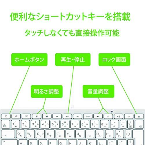 KB-LT-KANA-JISLightningコネクタ専用JIS配列日本語かな印字キーボード8