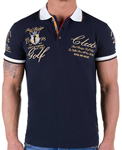 Red Bridge Herren Golf Club Poloshirt T-Shirt Dunkelblau M