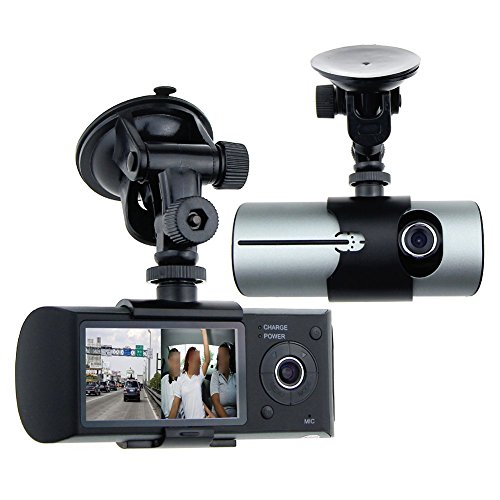 Awolf Dual Lens Dash Cam,2.7' Car DVR Vehicle Camera Video Recorder Car Camera with GPS Module G-Sensor