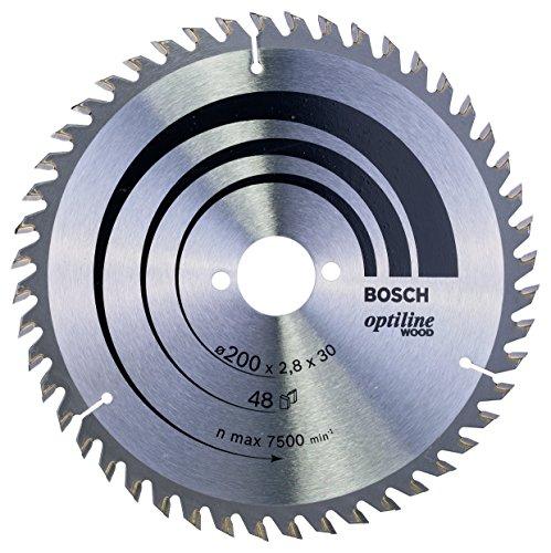 Bosch Professional Kreissägeblatt Optiline Wood (für Holz, 200 x 30 x 2,8 mm, 48 Zähne, Zubehör Kreissäge)