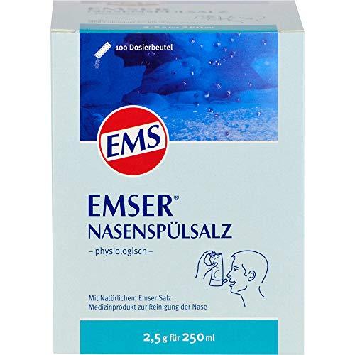 Emser Nasenspülsalz physiologisch zur Vorbeugung von Erkältungen, Allergien und zur Nasenpflege / 100 x 2,5 g Beutel