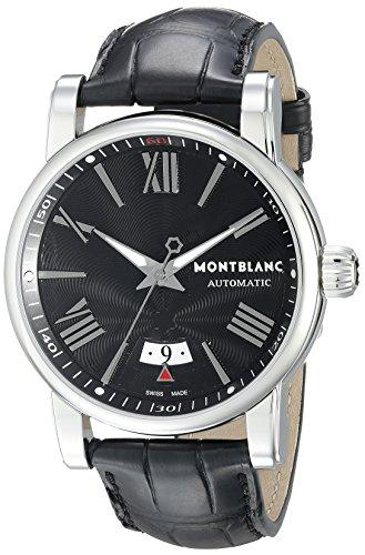 Montblanc 102341 - Reloj para Hombres, Correa de Cuero Color Negro