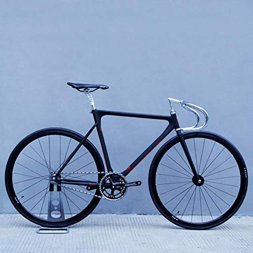 NTR Revolution Vorwärts geneigter Rahmen Single SpeedBicycle 700C Rennräder mit V-Bremsen, schwarz, 53 cm (160 cm - 183 cm)