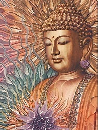 Xykhlj Pintar por Números - Estatua de Buda de creencias religiosas - Lienzo preimpreso - Principiantes para Niños y Adultos - Kits Decoración del Hogar - 40x50cm - Sin Marco