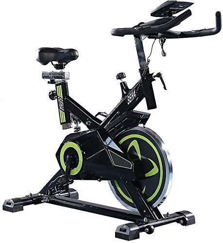 Heimtrainer Indoor Cycling, Verstellbarer Lenker Sitz, Liest Computer Geschwindigkeit Entfernung Zeit Kalorien Herzfrequenz-Sensoren, Excersize Bike for Home Use Cardio Workout, Spinning Bike 14KG Sch