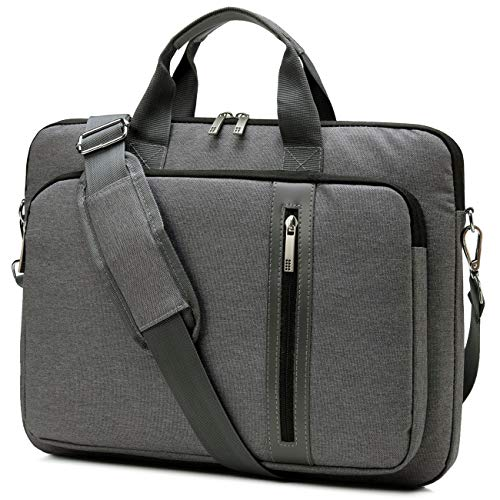 Laptop Bag for Men Women, Kasgo Water-Resistant Shockproof 15.6 inch Tablet Satchel Shoulder Messenger Bag Briefcase Laptop Case with Padded Shoulder Strap Luggage Sleeve for Business Work (Gray)