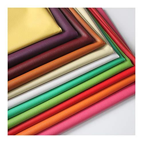 wangk Tissu suédine Effet Simili Cuir, épaisseur Moyenne - Magnifique qualité - Tissu Faux Cuir - Tissu Faux Daim avec enduction - Tissu Simili Cuir Effet Daim Tissu Imitation Cuir -Gris 1.38x2m